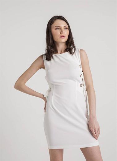 Xtsy Kolsuz Mini Elbise Beyaz